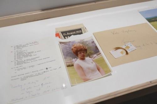 """Fragments no darba """"Margrēta - kādas mīlas dēkas hronika. 1969. gada maijs-1970. gada decembris."""" Galerijas Delmes _ Zander īpašums, Ķelne, Vācija."""