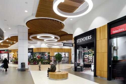 TC 'Domina Shopping' rekonstrukcijas daļas interjers