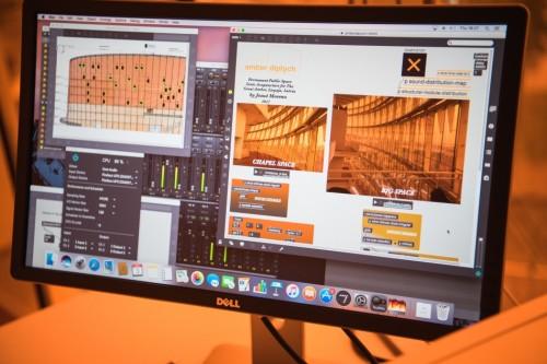 Dzintara diptihs (pastāvīgā audio-arhitektoniskā ģeneratīvā instalācija) koncertzālē 'Lielais Dzintars'