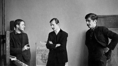 Imants Lancmanis, Jānis Krievs, Bruno Vasiļevskis; foto no I. Lancmaņa personīgā arhīva