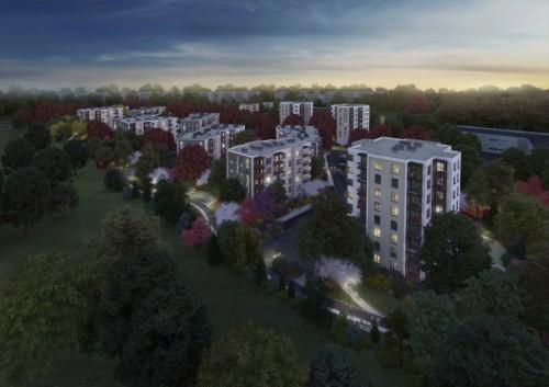 Daudzīvokļu ēkas: Dzīvojamo un sabiedrisko ēku komplekss Ulbrokas ielā