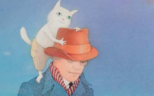 Gundegas Muzikantes ilustrācija Jura Zvirgzdiņa grāmatai 'Zvaigžņu tramvajs'