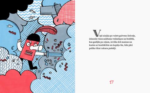 Rūtas Briedes ilustrācija Sergeja Timofejeva grāmatai 'Pasaka par bruņinieku, kuram sāpēja zobi'