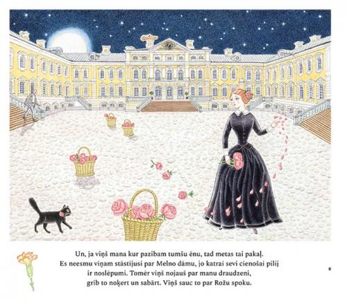 Anitas Paegles ilustrācija grāmatai 'Rožu spoks'
