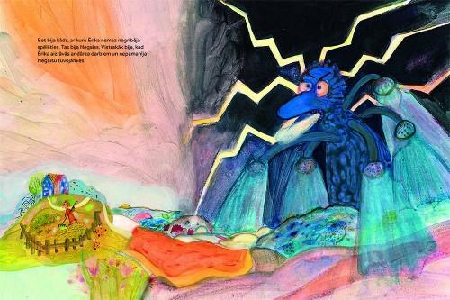 Jura Petraškeviča ilustrācija savai grāmatai 'Ērika un bailes'